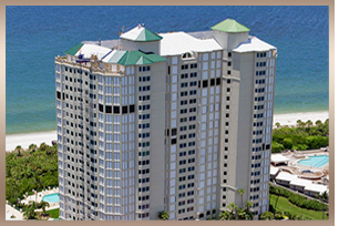 Beachfront high rises in Bay Colony